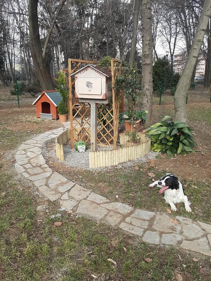 Area di sgambamento di Angelo e Ruth nel parco Rovere a Biella